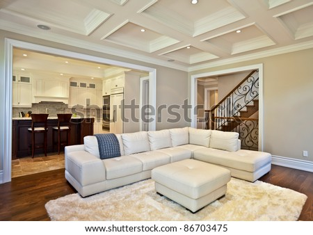 Elegant living room in a luxury estate house - stock photo