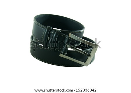 Elegant male belt isolated at the white background