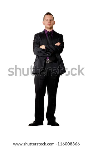 elegant man - stock photo