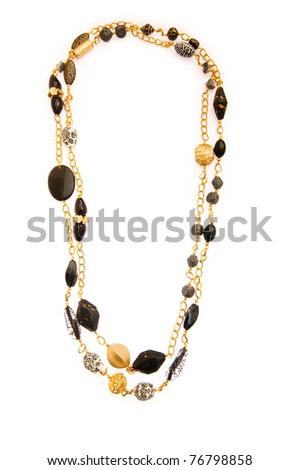 Elegant necklace isolated on the white background - stock photo