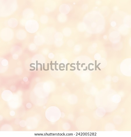 elegant off white background with bokeh blur effect, layers of round white bokeh lights, glittering shimmer lights in sky - stock photo