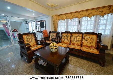 Elegant Oriental Classic Vintage Chinese Living Room, Interior Design