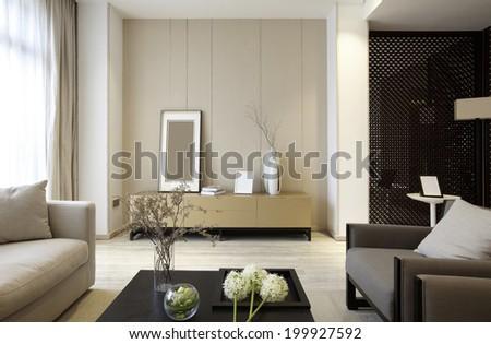 Elegant parlor interiors - stock photo
