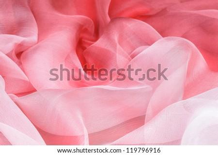 elegant pink silk as background - stock photo