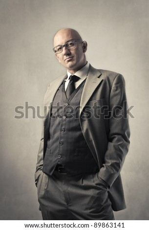 Elegant professional businessman - stock photo