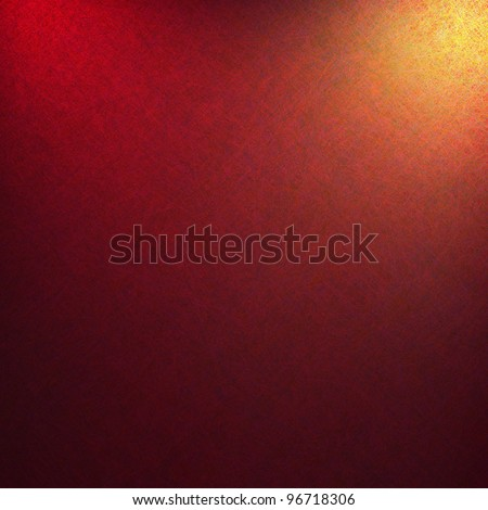 elegant red gold background with abstract gold spotlight and detail textured canvas with copyspace, red background has orange color tones and black background - stock photo