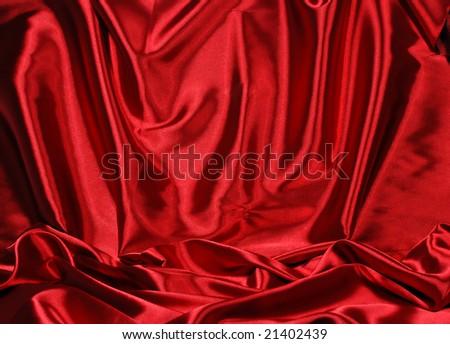 Elegant red satin background - stock photo