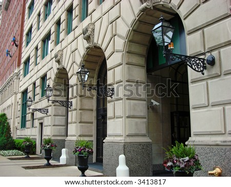 Elegant Residence in Gold Coat section of Chicago - stock photo
