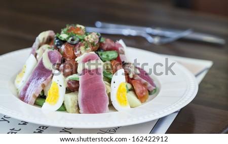 Elegant salad. - stock photo