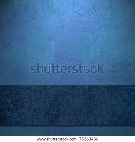 elegant sapphire blue background, dark blue colored ribbon design layout, old antique grunge texture, soft faded lighting, and copy space to add your own text, title, or image - stock photo