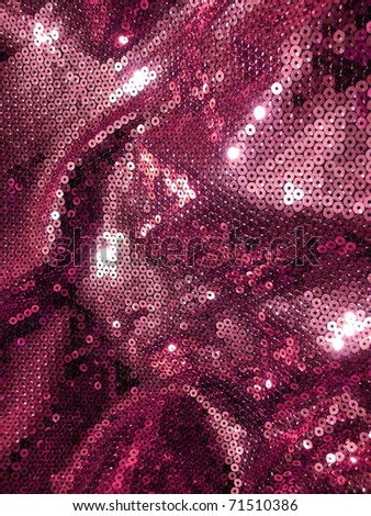 Elegant sequined sparkling textile close up. More of this motif & more textiles in my port. - stock photo