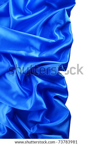 Elegant soft blue satin texture - stock photo
