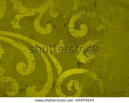 Elegant subtle decorative golden christmas paper surface close up. More of this motif & more decors in my port. - stock photo