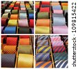 elegant tie collection, Milan ( Milano ) , Italy, Europe - stock photo