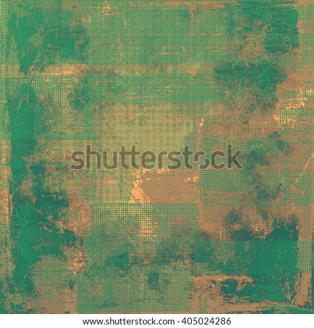 Elegant vintage background, antique texture. Designed grunge template with different color patterns: yellow (beige); brown; green; gray - stock photo