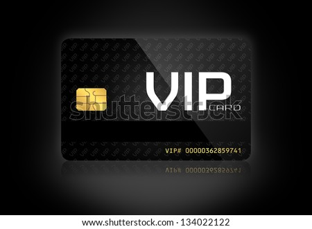 Elegant VIP Card in a Dark Background