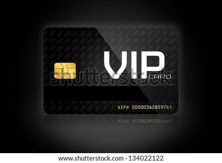 Elegant VIP Card in a Dark Background - stock photo