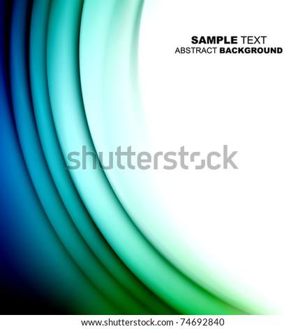 Elegant wave background - stock photo