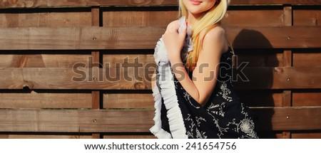 elegant woman posing - stock photo
