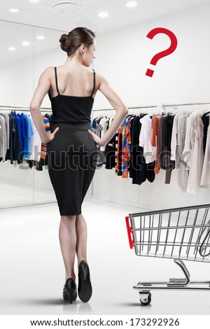 Elegant woman shopping in a store