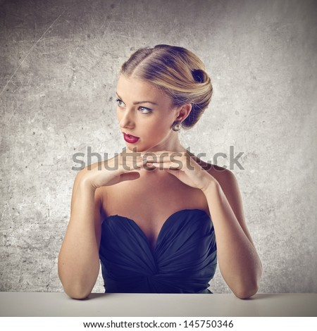 elegant young woman