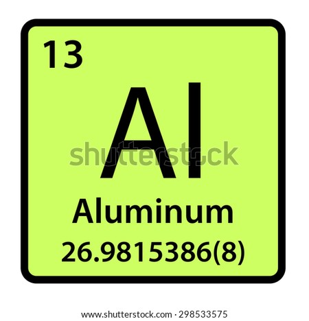Element aluminum periodic table stock illustration 298533575 element aluminum of the periodic table urtaz Gallery