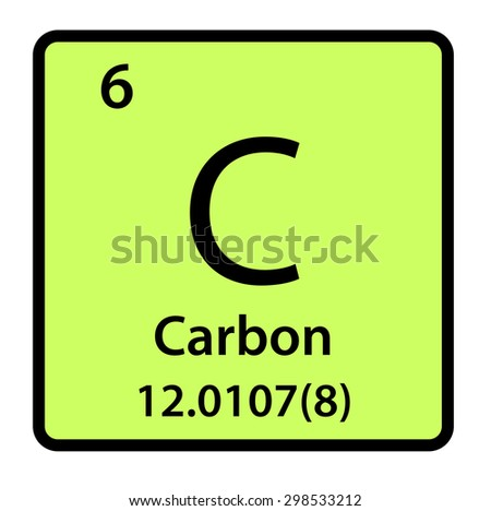 Element Carbon Periodic Table Stock Illustration 298533212