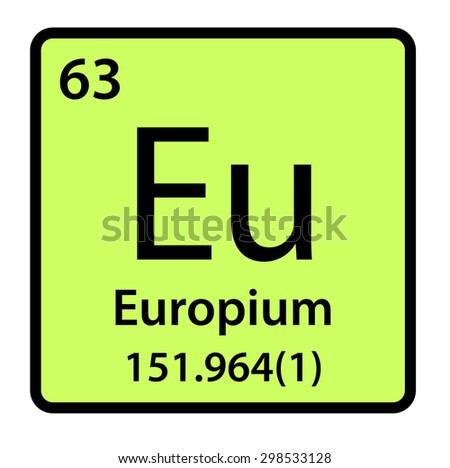 Element europium periodic table stock illustration 298533128 element europium of the periodic table urtaz Choice Image