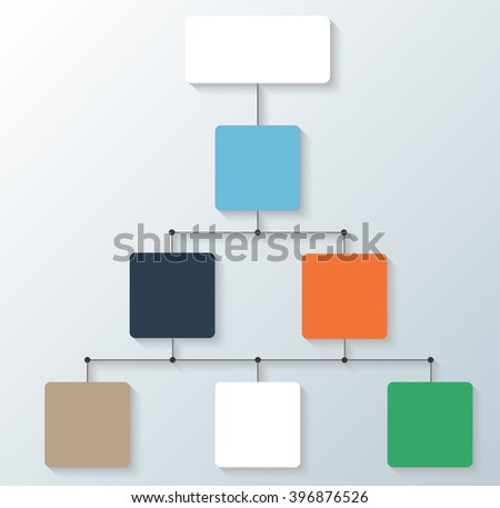 Flow Chart Simply Editable Without Text Stock Vector 250124437