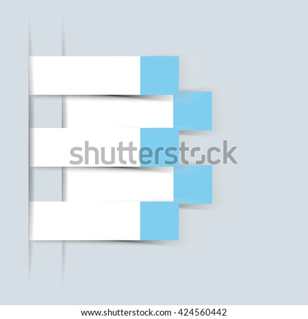 ELEMENT FOR INFOGRAPHIC  TEMPLATE GEOMETRIC FIGURE STICKER BLUE THIRD EDITION
