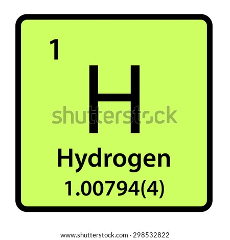 Element hydrogen periodic table stock illustration 298532822 element hydrogen of the periodic table urtaz Gallery