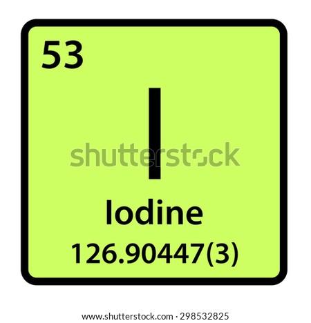 Element iodine periodic table stock illustration 298532825 element iodine of the periodic table urtaz Image collections