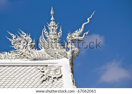 Element of Thai Art Taken from Wat Rong Khun,Chiang Rai province Thailand