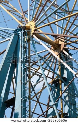 element of the Ferris wheel - stock photo