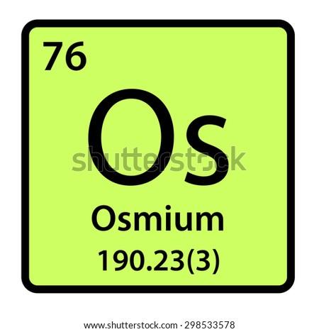 Element osmium periodic table stock illustration 298533578 element osmium of the periodic table urtaz Choice Image