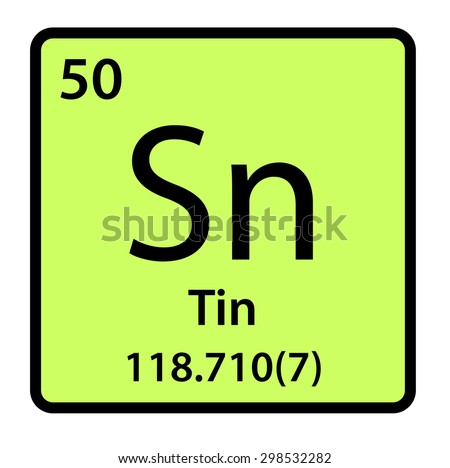 Element tin periodic table stock illustration 298532282 shutterstock element tin of the periodic table urtaz Images