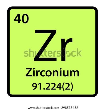 Element zirconium periodic table stock illustration 298533482 element zirconium of the periodic table urtaz Gallery