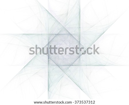 Elementary Particles series. Interplay of abstract fractal forms on the subject of nuclear physics science and graphic design. - stock photo
