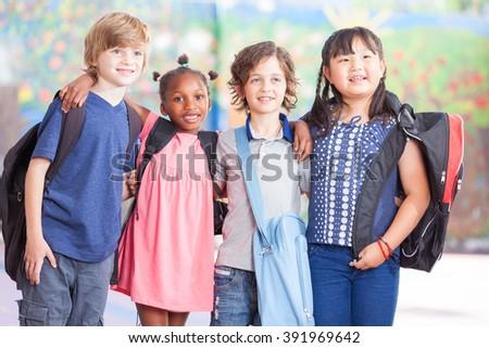 Elementary school scene. - stock photo