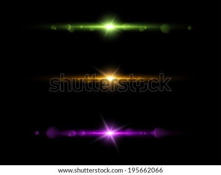Elements light with lens flare effect. - stock photo