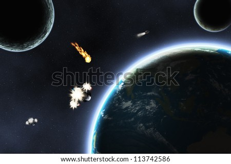 Elements of this image furnished by NASA. Abstract scientific space background.
