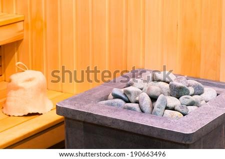 elements steam room sauna closeup - stock photo
