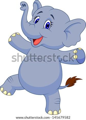 Elephant dancing - stock photo