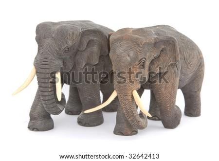Elephant figurine - stock photo