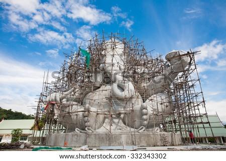elephant-headed deity B - stock photo