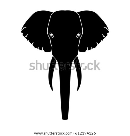 indian elephant icon black style isolated stock illustration 522354949 shutterstock. Black Bedroom Furniture Sets. Home Design Ideas