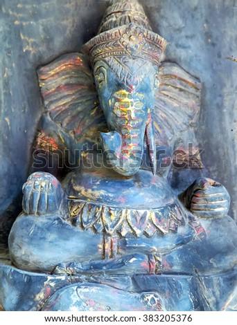 elephant in Angkor Wat temple, khmer civilization - stock photo