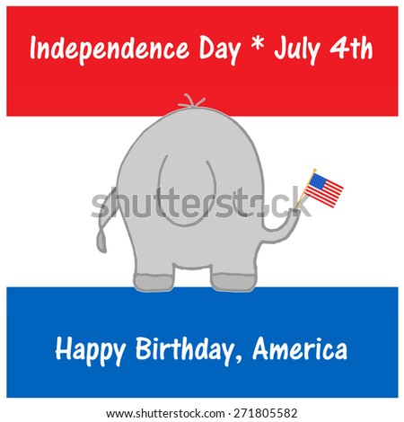 Elephant - July 4th - stock photo