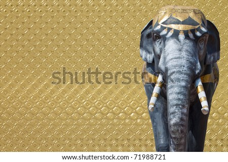 elephant statue on abstract background - stock photo