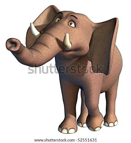 elephant thinking - stock photo